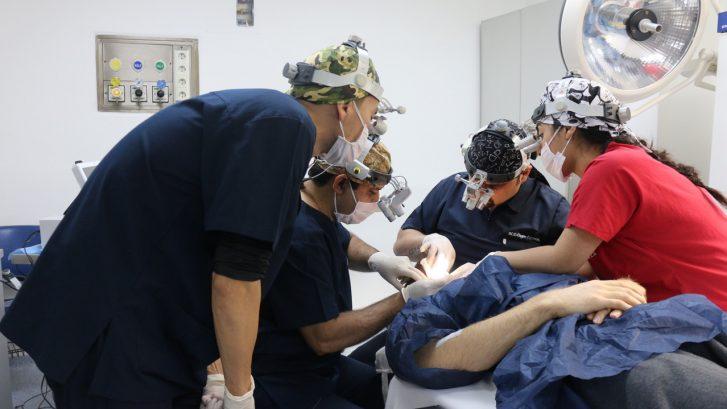 Процесс пересадки волос в HLC
