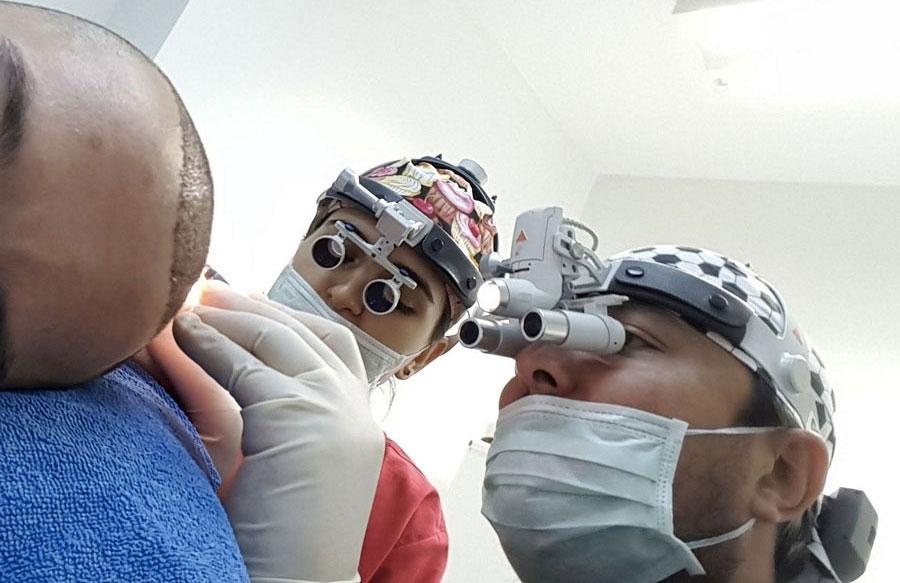 Процедура пересадки методом FUE