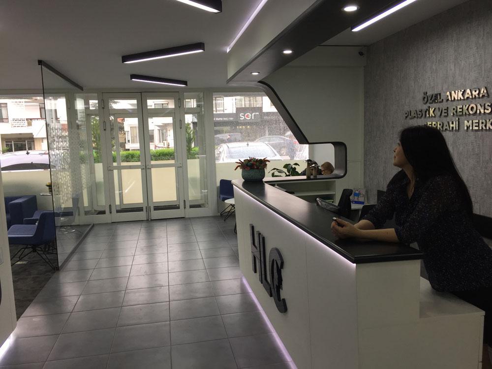 Вестибюль клиники Hairline в Турции