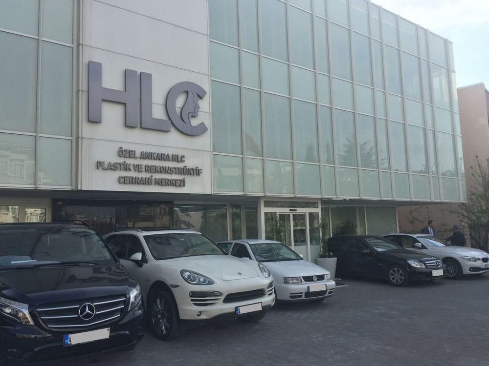 Фасад клиники HLC в Анкаре